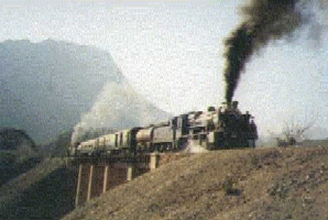 Khyber Mail at Darra, circa 1953, Pakistan